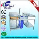 Gst-Und automatische Solarzellen-Baugruppen-Rand-Zutat, die Maschine entblitzt