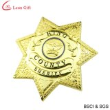 La polizia dura dell'oro dello smalto Badge per il ricordo (LM1756)