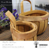 Hongdao handgemachtes kundenspezifisches Weihnachtswand-hängendes Dekoration-hölzernes Korb _L