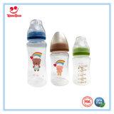 breites Plastikbaby-führende Flasche des Stutzen-300ml mit Nippel