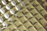 Tuiles biseautées de miroir d'or (ND05)