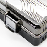 L'ABS di Lubinski ha modellato la cassa grigia del supporto del Humidor di corsa del sigaro delle coperture di plastica (ES-EB-027)
