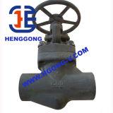 API/DIN/JIS schmiedete hohen Presssure Gewinde-Stahlabsperrschieber