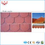 Ripia colorida del asfalto de la escala de pescados de la venta directa de la fábrica, azulejo de material para techos