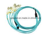 Fibre optique Patchcord de MPO-12cores LC Om3