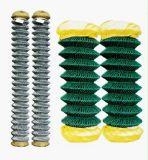 PVC에 의하여 입히는 길쌈된 50X50mm 체인 연결 담 또는 사슬 철사 담
