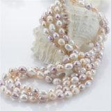 Рис Snh 7mm комплект ювелирных изделий перлы свежей воды