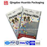 De vierkante Verpakkende Zak van de Hondevoer van de Bodem Plastic met de Ritssluiting van het Venster