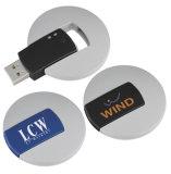 Mecanismo impulsor del flash del USB de la vuelta, disco plástico del USB (PZS002)
