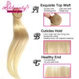Cheveux humains péruviens droits blonds de Remy