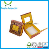 Rectángulo de empaquetado impreso insignia caliente de la joyería del papel de Kraft del sello para el regalo