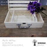Hongdao modificó el rectángulo de madera de empaquetado del rectángulo para requisitos particulares para el rectángulo de almacenaje del vino para Gift_D