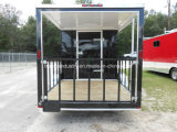 V-Nose Roomy Food Van, Small Griddle, Cook Hood, Mobile Food Truck, Food Cart, Food Trailer