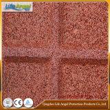 Azulejo de suelo de goma del dispositivo de seguridad del precio de fábrica para el patio