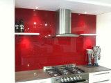 O respingo de pintura calcinado cerâmico colorido RoHS-Complacente do vidro Tempered para trás embarca a cozinha de vidro