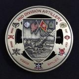 Изготовленный на заказ двойник встает на сторону воинские монетки 3D для сувенира