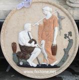 Cinzeladura de mármore da escultura de mármore do relevo (MRL-002)