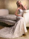 Robes de soirée nuptiales de mariage de lacet en ivoire de sirène