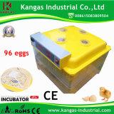 La bonne qualité et évaluent l'incubateur d'oeufs de 96 poulets (KP-96)