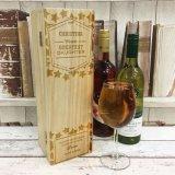 Boîte en bois personnalisée par vente en gros à vin rouge avec le prix meilleur marché