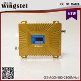 Nuovo oro di disegno più il ripetitore del segnale 2100MHz di GSM/WCDMA 900 per il telefono mobile