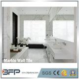 Telha de mármore branca da parede de Carrara da alta qualidade para a decoração interior