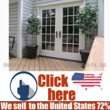 Heißer Verkaufs-einfache Außenbauholz-Holz-Tür