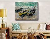 Peinture à l'huile à la maison d'art de décoration sur la peinture à l'huile de bateaux de Threefishing d'art de mur de toile