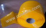 Cortina amarela com nervuras do PVC da prova do inseto para a loja de trabalho