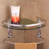 verre trempé d'étagère de coin de mur de 8mm pour le shampooing