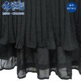 Schwarzer Sleeveless Newstyle Streifen gefaltetes lose reizvolle Form-langes Kleid