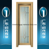Portello interno della stoffa per tendine del portello di alluminio della Camera con il comitato di vetro decorativo