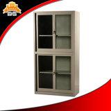 Einfacher preiswerter gleitendes Glas-Tür-Datei-Schrank des Metall2