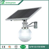 9W 12VDC LED Solar Garden Street Light All in One