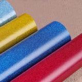 Surtidor liso brillante del cuero de la tela del brillo del PVC del precio bajo