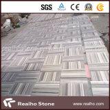 Mattonelle di pavimentazione di marmo bianche di Equatore con le vene diritte