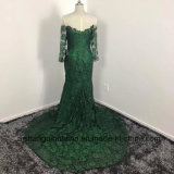 Nixe-Spitze-Brautjunfer kleidet nach Maß langes Hülsen-Brautjunfer-Kleid