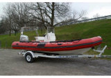 Guardacoste di Aqualand 19feet 5.7m Rib/nave di soccorso di Rigid Inflatable (RIB570B)