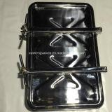 couverture de trou d'homme rectangulaire extérieure d'acier inoxydable de 470mm*760mm avec de la pression