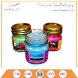 Pequeños sostenedores de vela de cristal del tarro de Maon, tarros de la vela