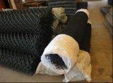 Engranzamento de fio revestido da ligação Chain do vinil Top-Selling do PVC de 50X50mm no rolo