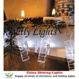 Indicatori luminosi della batteria della stringa della foto della clip della decorazione della casa di cerimonia nuziale del partito di nuovo anno degli indicatori luminosi di natale