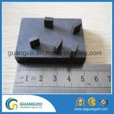 Imprimé à blocs en céramique dur ferrite permanent avec trou