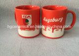 完全な砂吹きの陶磁器のマグ、フットボールクラブ陶磁器のマグ