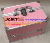 2 вытяните вне Trays Makeup Train Case Aluminum Cosmetic Organizer Yarn-Dyed-Checks2 Pull вне Trays Makeup Train Case Aluminum