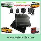 movimentação dura removível DVR móvel do SSD de 3G/4G/GPS/WiFi 4CH para sistema do CCTV do veículo/barramento/carro/caminhão