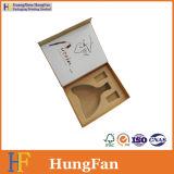Rectángulo del vino de la envoltura de papel del regalo de calidad de Hight con el encierro magnético