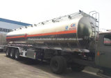 45000 litros reboque do depósito de gasolina do petroleiro 45cbm do combustível da liga de alumínio para a venda