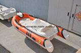 Vendita gonfiabile materiale del crogiolo di PVC della piccola barca di lusso della nervatura di Liya
