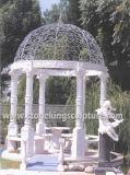 Мраморный Gazebo, каменный Gazebo, каменный Gazebo сада (SK-2200)